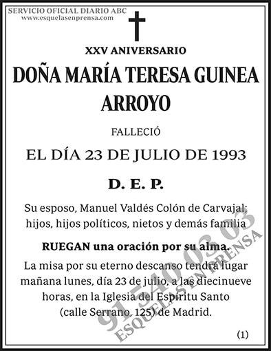 María Teresa Guinea Arroyo